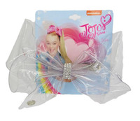 "new design 8"" Transparent Rainbow JoJo Bow With Clip Gi..."