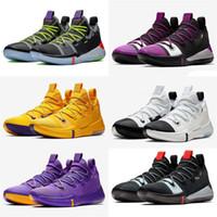 الجديد مامبا AD تتفاعل أحذية لوس انجليس ليكرز الخروج Derozan أسود فضي بنفسجي وردي كرة السلة عالية الجودة رجل مدرب الرياضة حذاء رياضة حجم 40-46