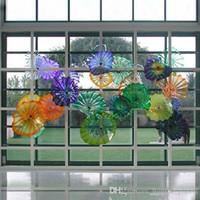 Ручная душевая настенные светильники художественные плиты Мурано стекло Средиземноморские плиты для подвешивания домашнего бара украшения