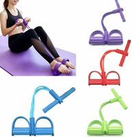Pull Rope Fitness Exercises Resistance Bands Latex Tubes Ped...