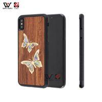 2021 casos de telefone à prova de choque para iphone 6s 7 8 mais 11 12 xs xr x max madeira tpu borboleta design de tampa traseira casca de alta qualidade