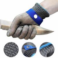 New 1 Pcs corte luvas resistentes de aço inoxidável Luvas de segurança de Trabalho Metal Mesh Anti corte para Trabalhador Butcher