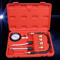 Kit de prueba de manómetro de tipo rápido Motor Auto gasolinera gas de gas de gas de gas de compresión de compresión herramienta herramienta de diagnóstico de automóvil