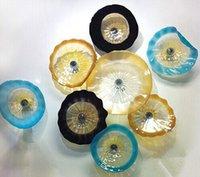 Китай выдувное стекло свет стены Цветные Decor Glass Art Тарелки Чаши для Hotel Villa Фойе Decor