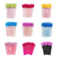 250PCS/lot Disposable Eyebrow Eyelash Brushes Comb Eyelash Spoolies Lash Wands Makeup Brushes Mascara Wands for Extensions