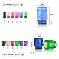 810 510 Thread Plastic Wide Bore Drip Tip Mouthpiece Vape Ca...