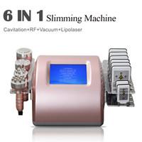 Radio Frecuencia RF BIPolar Cavitación ultrasónica adelgazante 5in1 Máquina de remoción de celulitis Máquina de la cara de la cara de vacío Pérdida de peso de la belleza Equipma