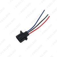 2pcs Car H13 Male Plastic Socket Case para Auto Halogen LED Headlamp Holder Connector Wire # 5456