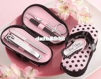 All'ingrosso - 15sets / lot creativo Nizza Infradito rosa della borsa di Polka di manicure di nozze regali di favore per Bridal Shower