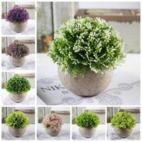 Sahte Çiçek Çim Topu Antik Yolları Ev Mobilya YSY333-L geri 16 Stiller Pe Plastik Bonsai Yapay Çiçekler Simülasyon Yeşil Bitki