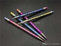 Новый дизайн Titanium Dab инструмент Domeless Цветные Карандаш Titanium ногтей с титановым Dabber для стекла Водопроводные трубы
