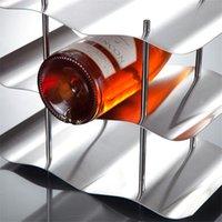 accessoires de cuisine Homehold 3 couches Bouteille rouge en acier inoxydable vin Holder Rack Support Accueil Outils Bar à vin Gadget préférence