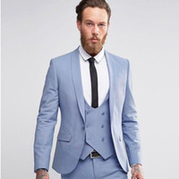 Latest Grey Mens Suits Dinner Party Prom Suit Groom Tuxedos ...