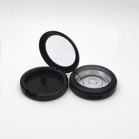 59mm leere kosmetischer Blusher Lidschatten Kasten-Verfassungs-Verpackung Container Mattschwarz Klar Cap Cosmetic Compact 50pcs