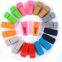 Оптовая No Trace заколка для галстука Solid Универсальная Resuable мокрой и сухой одежды Плечики Простота в использовании ABS пластик прищепки DBC DH0476
