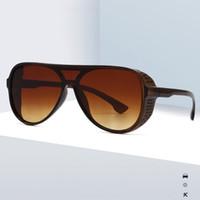 2020 lente Gradiente Nueva gran tamaño de la lente integrada Mujeres de los vidrios de sol de la vendimia gafas de sol de los vidrios UV400 de 6 colores