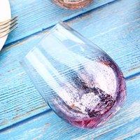 20 onças sem chumbo Cristal Egg vinho copo de vidro Tumbler Modern Grande Capacidade Ion banhado Arco-íris transparente Household Sala Craft EEA1290