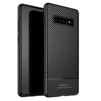 iPaky Case For Samsung Galaxy S10 Plus S10+ S10e Carbon Fibe...