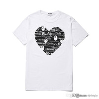 COM all'ingrosso New Best Quality Bianco Cuore nero A New Hot HOLIDAY PLAY Bathing 1 Ape T-shirt Bianco Rosso Taglia L pronta decisione