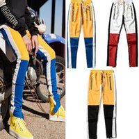 Spring And Autumn Streetwear Fog Pants Side Zipper Color Mat...