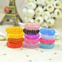 baby Candy Colored Telephone Line Elastic Hair Bands Hair ti...