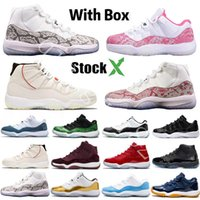 With Box StockX 2020 Bred 11 Mens Basketball Shoes 11s Conco...