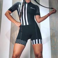 2019 Pro Team Triathlon Traje de manga corta de las mujeres ciclismo Jersey skinsuit Mono Maillot ciclismo Ropa de gel conjunto ciclismo 047