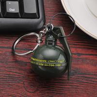 Grenade Shape Chaveiro Chaveiro-PUBG Stun Grenades Titular Anel Chave-Metal Mens Car Bag Chaveiro Pingente Jóias Jogo