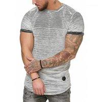 Designer-T-Shirts Mode Short Sleeve Striped Tees Pullover mit Rundhalsausschnitt Panelled Mens-Sommer-Tops beiläufigen dünnen Mens