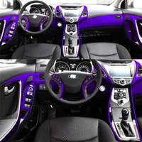 Pour Hyundai Elantra MD 2012-2016 auto-adhésif Autocollants voiture 3D 5D fibre de carbone vinyle stickers voiture et décalcomanies Car Styling Accessoires