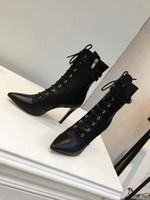 Vendita-Stellar Sneaker alta delle donne superiori di lusso caldo del progettista scarpe di cuoio Boots Booties donna di modo femminile con scatola e Borse n0720