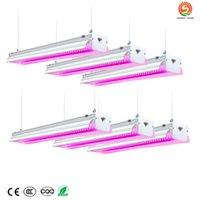 64W LED가 4피트는 빛을 성장을위한 램프 수경 조명 성장을 성장 LED 업데이트와 실내 식물 채식 꽃 빛 전체 스펙트럼을 성장