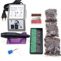 Professionelle elektrische Nagel-Bohrgerät-Maschine Maniküre Maschine 20000rpm Nagel-Kunst-Akten-keramischen Nagel-Bohrer 300pcs Schleifen