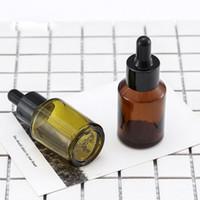 30ML Verde / Âmbar Aromaterapia Vidro Líquido Pipeta garrafa reutilizável vazio Essential Oil Dropper Bottles Maquiagem Tool Cosméticos para viagem