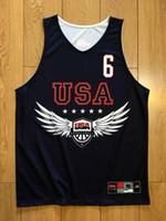 Rose Derrick Rose # 6 USA فريق الفانيلة D.Rose تدريب قمصان كرة السلة الأمريكية طباعة جيرسي أو مخصص أي اسم رقم 4xl 5xl 6xl جيرسي