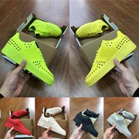 2019 Fashion Dunk 1 One Lemon yellow lime green Mens Designer Sneakers Classic Negro Blanco de fondo plano zapatillas de deporte Entrenadores tamaño 7-13
