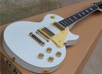 Estándar de 12 cuerdas de la guitarra eléctrica con cuerpo de oro y accesorios de color blanco compradores alabanza
