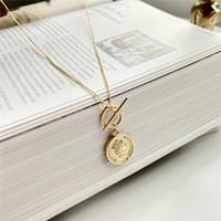 925 فضة الأصل الأزياء الشكل سيدة الملكة كوين قلادة قلادة الذهب المختنقون قلادة للنساء 2018 مجوهرات الجميلة V191128