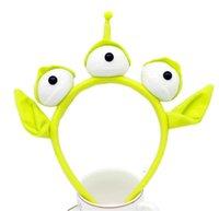 الغريبة الوحش العصابة القطيفة مقلة العين روبوت الشعر Hairband الكبار الأطفال هالوين الحزب تأثيري زينة الجدة هدية لطيف الأخضر