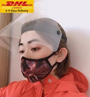 DHL Protective Face Shield Full Face Isolation Mask Transpar...