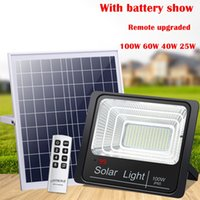Umlight1688 2019 25W LED Solar flood Light With remote 40W 6...