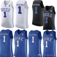 Duke Blue Devils Jersey 1 Zion Williamson Basketball Jerseys Mens University Blue Black White Jersey Billig Großhandel