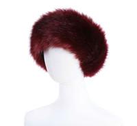 أزياء 10 لونا للمرأة فو الفراء العصابة فاخر تعديل دافئة شتاء BWhite الطبيعة بنات Earwarmer Earmuff و