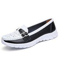 Women Leather Roman Hollow Flat Loafer Sneakers Shoes Sneake...