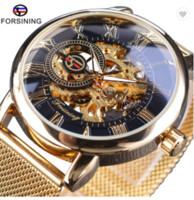2020 forsining прозрачный корпус моды мужские часы верхний бренд роскошный механический скелет наручные часы часов мужчины reloj de lujo