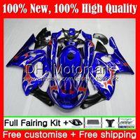 Karosserie für YAMAHA Thundercat YZF600R 02 03 04 05 06 07 86MT27 YZF 600R YZF-600R Blau Rot Neu 2002 2003 2004 2005 2006 2007 Verkleidung Karosserie