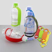 سيليكون DRINKWARE التعامل مع المحمولة زجاجة مقبض التخييم المشي لمسافات طويلة هوك السفر زجاجة مياه حامل مقبض 9 اللون