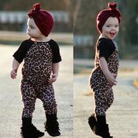 Baby Mädchen Kurzarm Leopard Strampler Kinder Jumpsuits Kleinkind Kleidung Nette Infant Bodysuit Boutique Onesies Kleidung