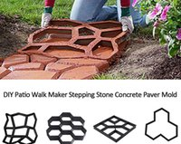 DIY Jardim Pavimento de Cimento Pisando Molde de Pedra Garden Lawn Pathmate Stone Mold