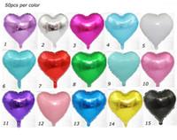 18inch en forma de corazón fiesta de cumpleaños del amor del día de boda del regalo de la decoración hincha el festival de alimentación de papel de aluminio globo de San Valentín caliente